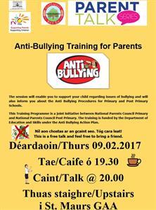 Caint ar Frithbhulaíochta/Talk on Anti-Bullying